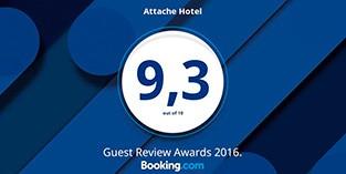 """Отель """"Атташе"""" получил новую награду Guest Review Award от Booking.com!"""